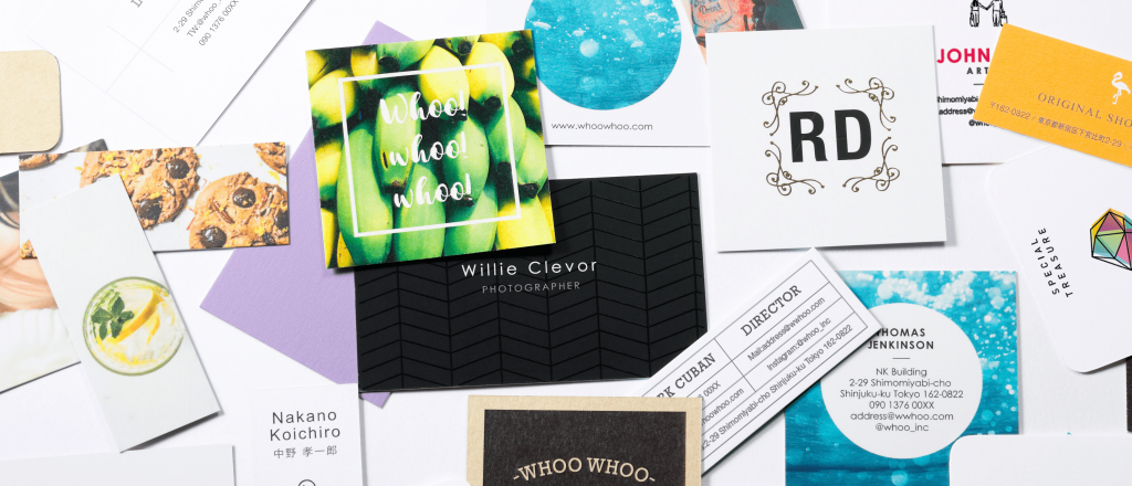 ハイクオリティなデザイン名刺が簡単に作れる「whoo」