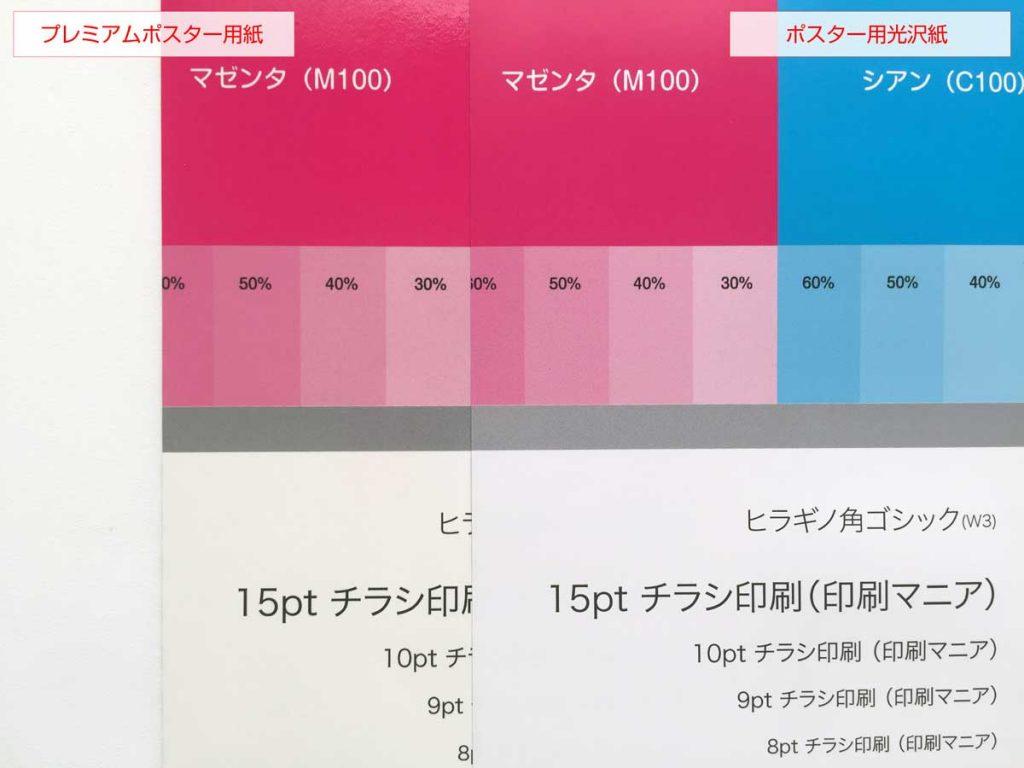 ビスタプリントのポスター用紙の画質を比較